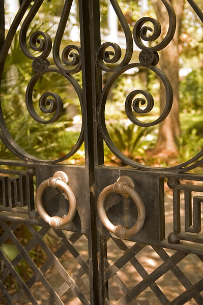 Close-up detail of Legare Street gate