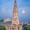 St. Philips church and full moon