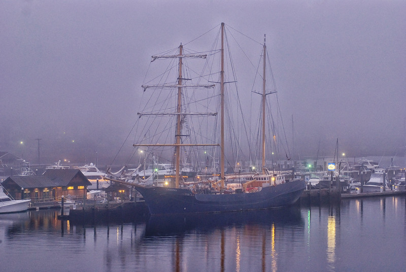 The tallship Caledonia in the Charleston City Marina