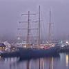 The tallship Caledonia in the Charleston City Marina