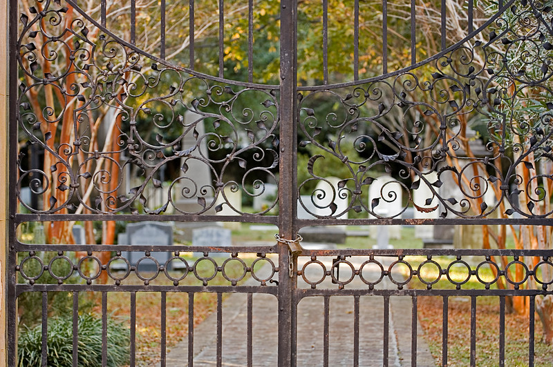 Gate to St. Philips graveyard