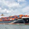Jakarta Express mega container ship leaving Charleston harbor