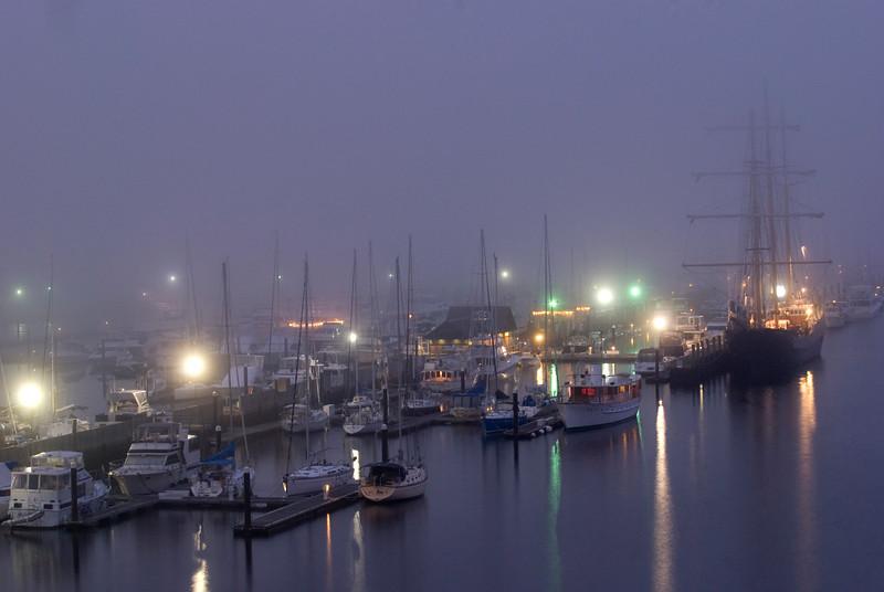 Foggy Dawn at the Charleston City Marina