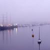 Tall Ship Caledonia at the City Marina on Foggy Morning