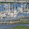 City Marina and James Island Connector panorama