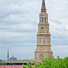 St. Philips Church steeple and French Huguenot Church roof