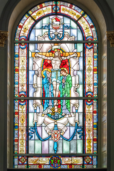 Stained glass window in Cathedral of St. Luke & St. Paul, Charleston, SC