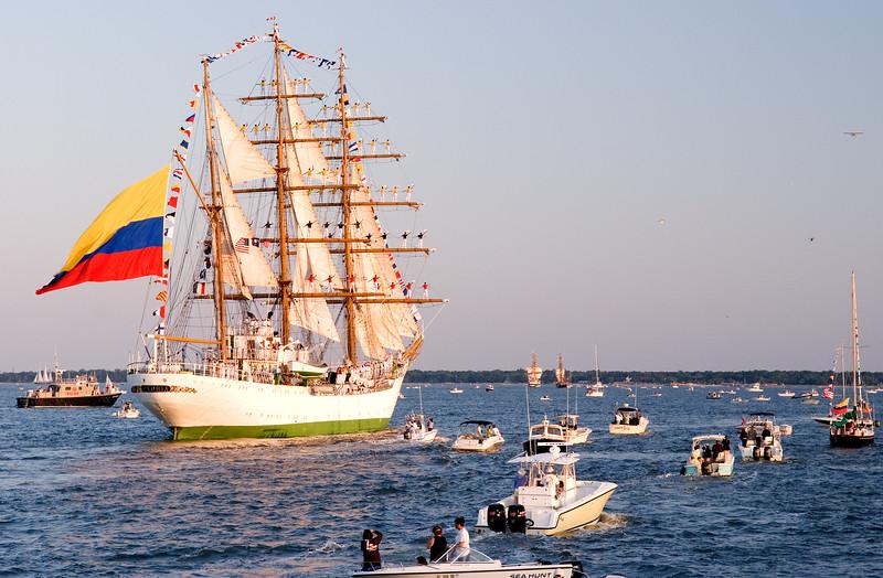 Tallship in Charleston harbor