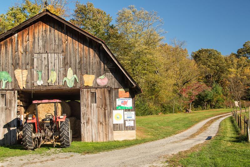 Tractor and Barn Gwynn Valley, Brevard, NC