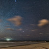 Perseids meteor over Folly Beach