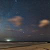 Perseids meteor over Folly Beach