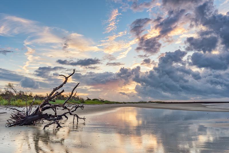 Sunrise at Folly Beach County Park