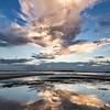 Sunset over Folly Beach County Park