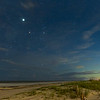 Milky Way, Jupiter and Antares over Folly Beach County Park