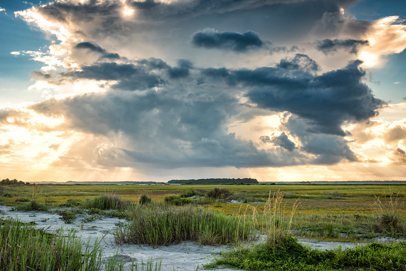 Clearing storm over the marsh