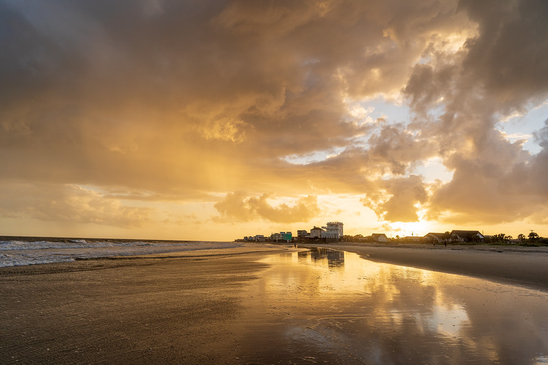 Clearing Storm over Folly  Beach