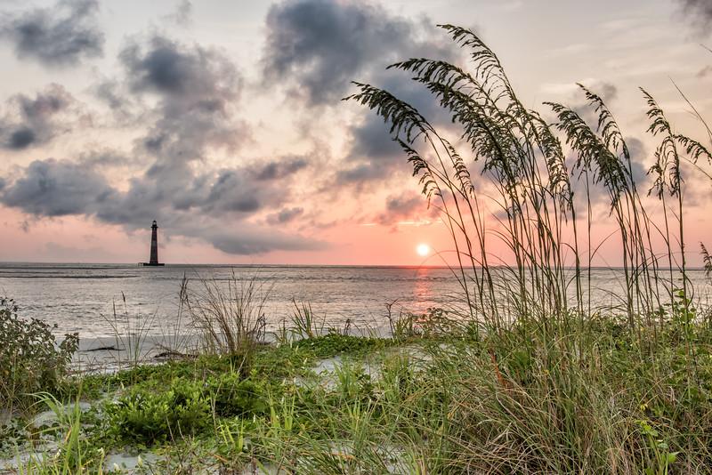 Sea Oats and Morris Island Lighthouse