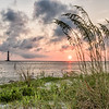 Sea Oats and Morris Island Lighthouse