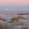 Full moon over Folly Beach