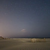 Folly Beach, beach, night, night time, sand, sea, stars, dune fencing, sand fences, ocean,