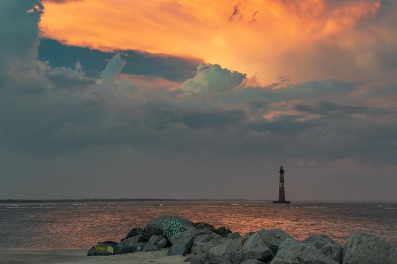Evening over Morris Island Lighthouse