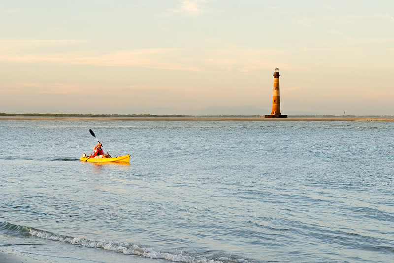 Morris Island Lighthouse and kayak