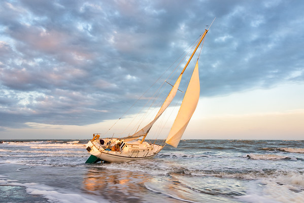 Aground on Folly Beach