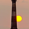 Sunrise over Morris Island lighthouse