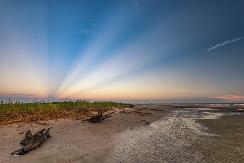 Crepuscular Rays, Folly Beach