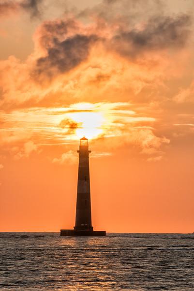 Sunrise and Morris Island Lighthouse 4V