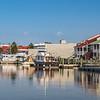 Watercraft, shops, & condos along Harborwalk