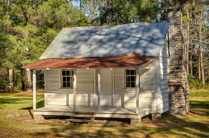Restored slave cabin, Friendfield Village, Hobcaw Barony