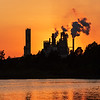 The International Paper Mill at sunset