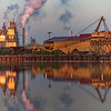 International Paper Mill and Georgetown Steel Mill at sunrise