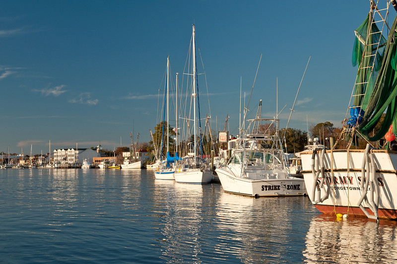 Boats docked at the Georgetown Marina