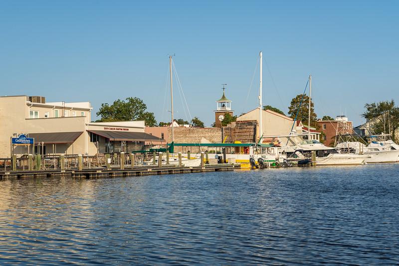 South Carolina Maritime Museum and restaurants on the Georgetown Harborwalk