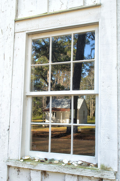 Window reflection, Friendfield Village