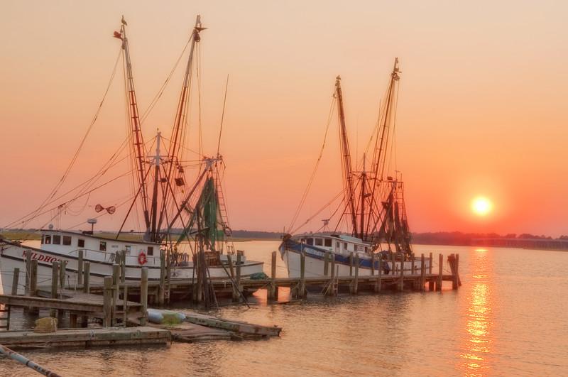 Sunset at 11th Street Dockside, Port Royal