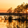 Sunset over the Pee Dee River