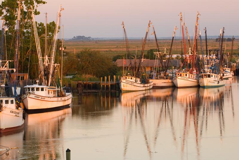 Shrimp boats, Darien, GA
