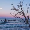 Moonrise over Hunting Island Beach