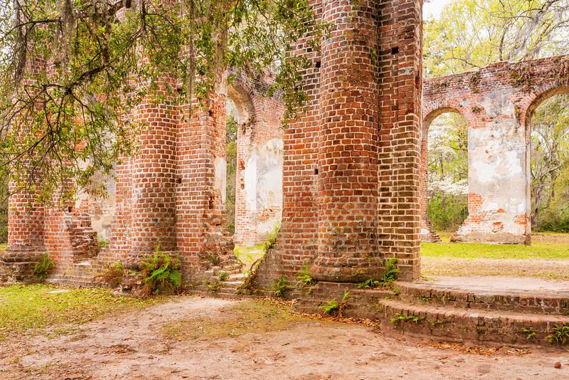 Brick ruins of Old Sheldon Church, Yemassee, SC