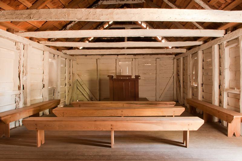 Interior of slave chapel