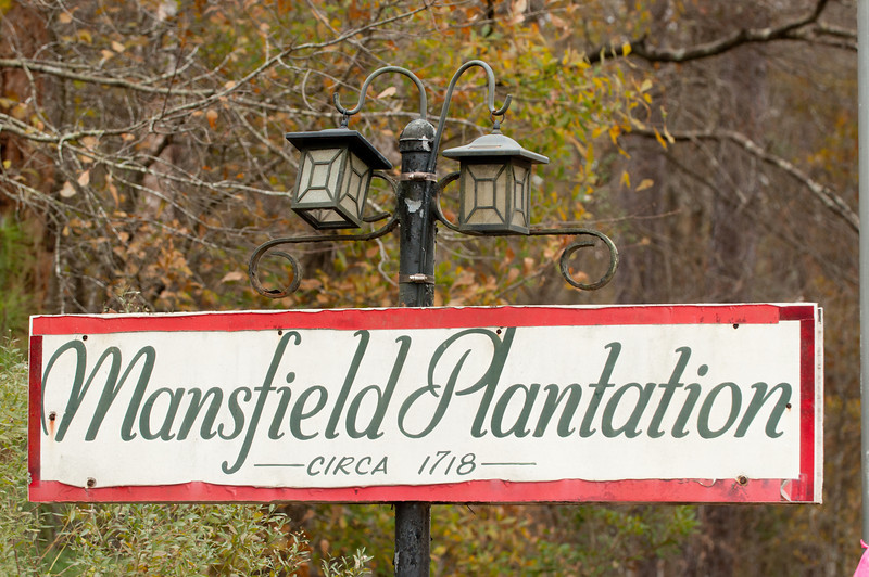 Entrance to Mansfield Plantation, Highway SC-701