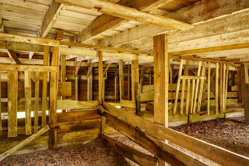 Interior of Old Barn