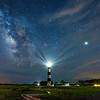 Bodie Island Lighthouse with Milky Way and Jupiter