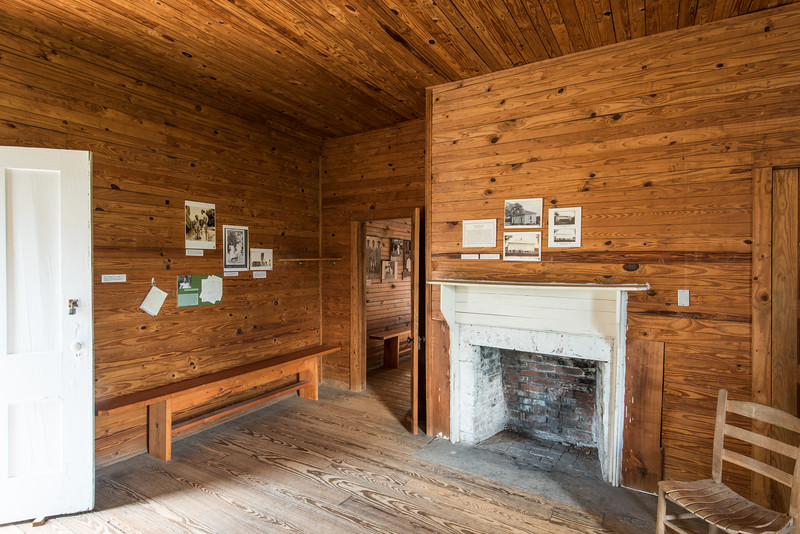 Restored interior of slave dwelling, Redcliffe Plantation, SC