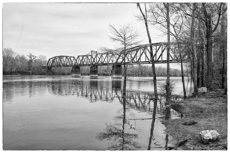 Trestle Bridge over Santee River, Jamestown