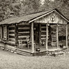 One Room log cabin and outhouse, Pickens, SC