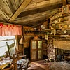One room cabin interior, Pickens, SC